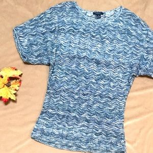 Westbound • Blue Knit S/S Top
